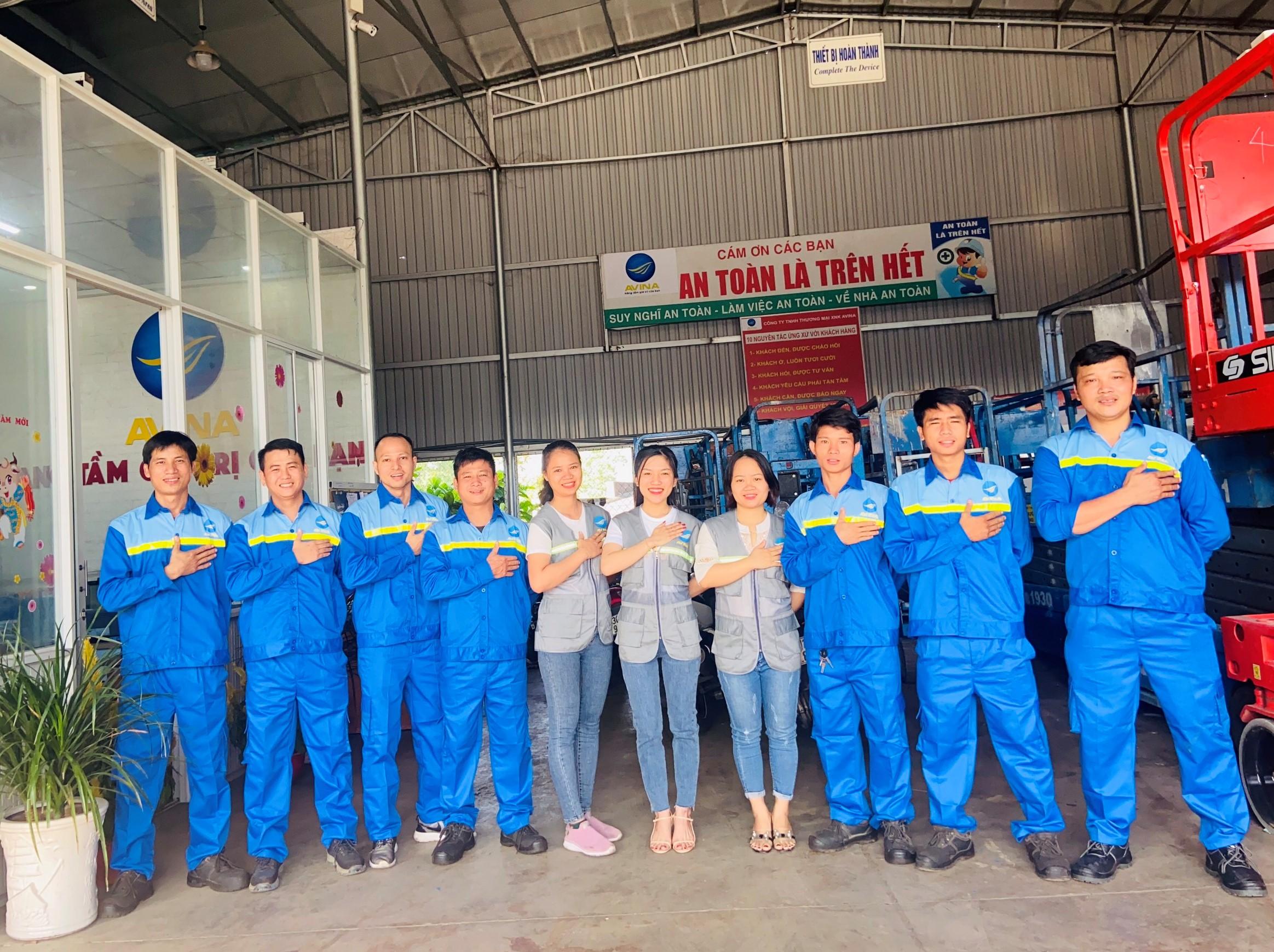 Cam kết của cty Avina khi cho thuê xe nâng người tại Đồng Nai